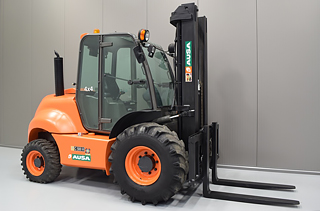 Rent a rough terrain forklift truck