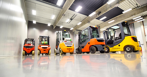 Rental of forklift trucks